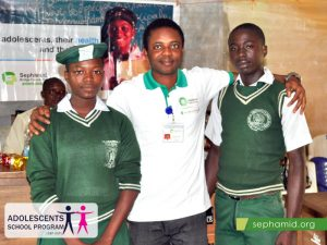SBF-Coord-with-head-girl-and-head-boy-Ilejemeje-Comm-Sch